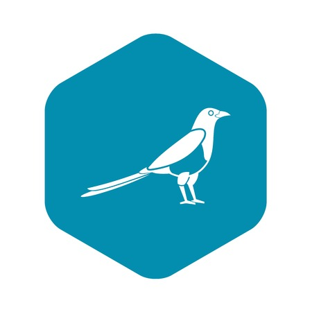 Bird magpie icon, simple style
