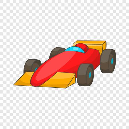 Race car icon in cartoon style isolated on background for any web design
