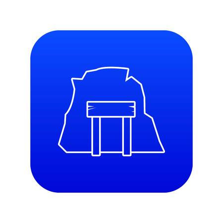 Mine enter icon blue vector