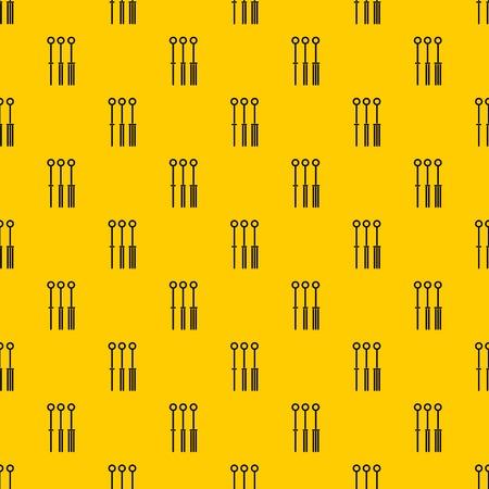 Tattoo needles pattern vector 向量圖像