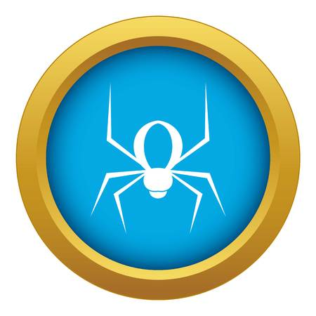 Spider icon blue vector isolated on white background for any design Standard-Bild - 124104537