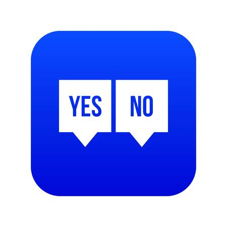 Signs of yes and no icon digital blue for any design isolated on white vector illustration