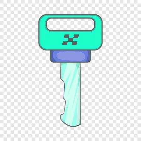 Key to race cars icon in cartoon style isolated on background for any web design  Ilustração