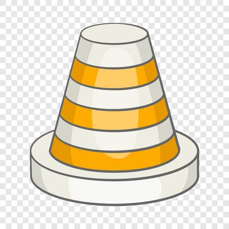 Traffic cone icon in cartoon style isolated on background for any web design