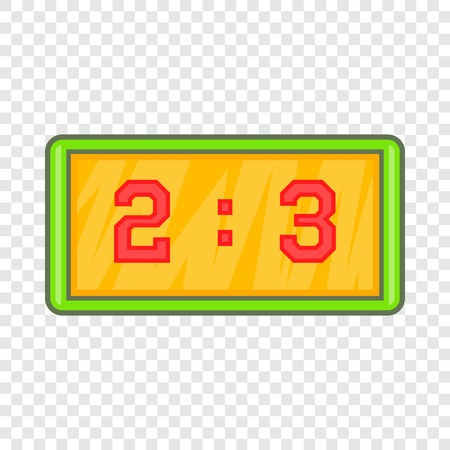Football score icon in cartoon style isolated on background for any web design