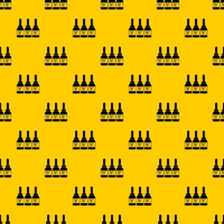 Three tattoo ink bottles pattern seamless vector repeat geometric yellow for any design