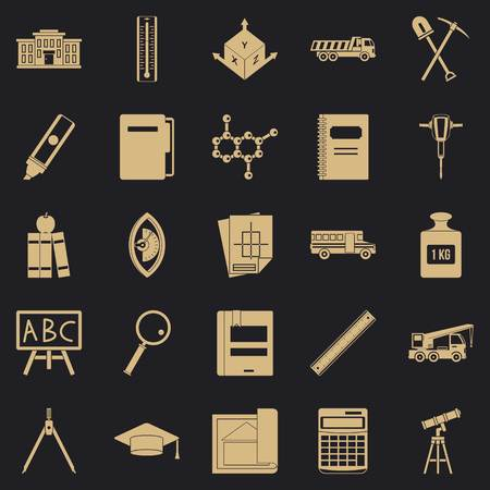 Denominator icons set. Simple set of 25 denominator vector icons for web for any design