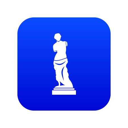Ancient statue icon digital blue