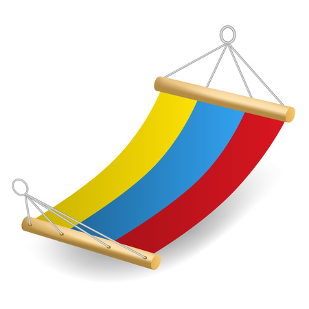 Colorful hammock icon. Realistic illustration of colorful hammock vector icon for web design isolated on white background