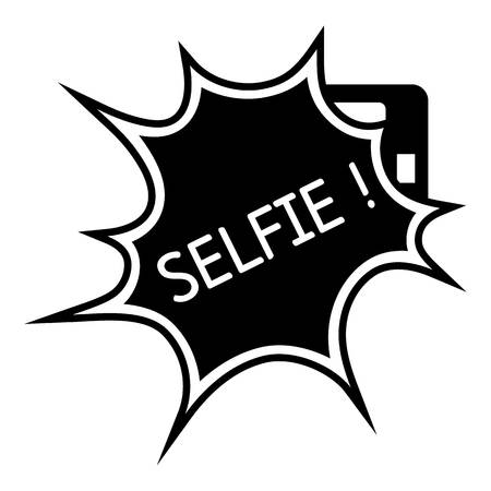 Selfie flash icon. Simple illustration of selfie flash vector icon for web design isolated on white background