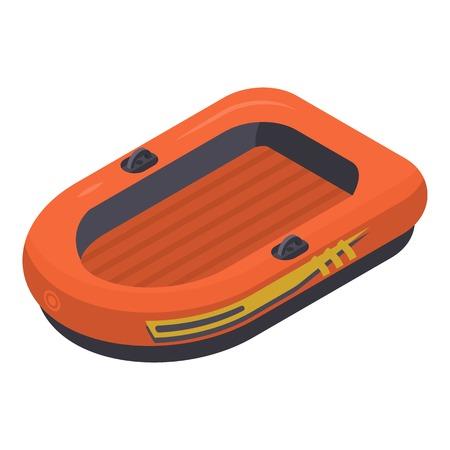 Icône de canot pneumatique de sauvetage. Isométrique de canot de sauvetage pour l'icône vecteur web design isolé sur fond blanc