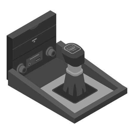 Car manual gearbox icon, isometric style