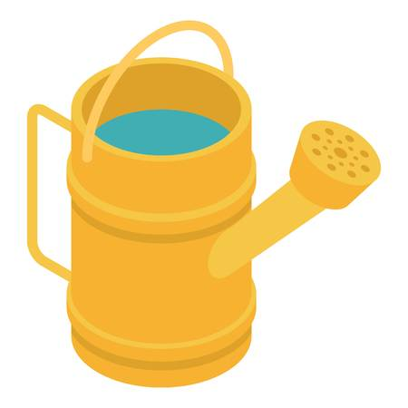 Watering can icon. Isometric of watering can vector icon for web design isolated on white background 向量圖像