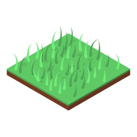 Home grass icon. Isometric of home grass vector icon for web design isolated on white background