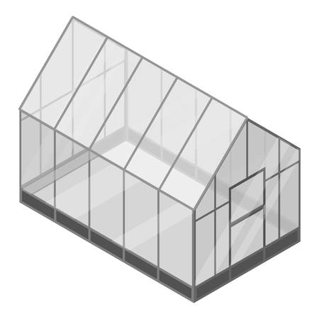 Home greenhouse icon. Isometric of home greenhouse vector icon for web design isolated on white background Çizim