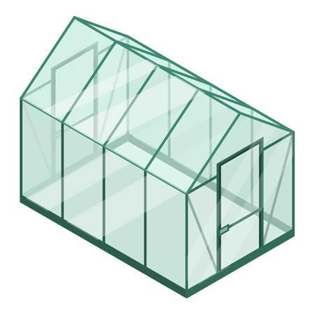 Kunststof kas icoon. Isometrisch van plastic kas vector pictogram voor webdesign geïsoleerd op een witte achtergrond Vector Illustratie