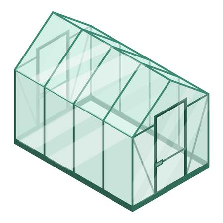 Plastic greenhouse icon. Isometric of plastic greenhouse vector icon for web design isolated on white background Ilustração