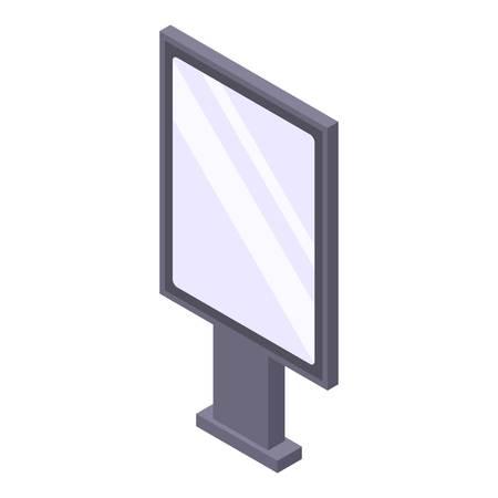 Icono de caja de luz moderna. Isométrica de icono de vector de caja de luz moderna para diseño web aislado sobre fondo blanco