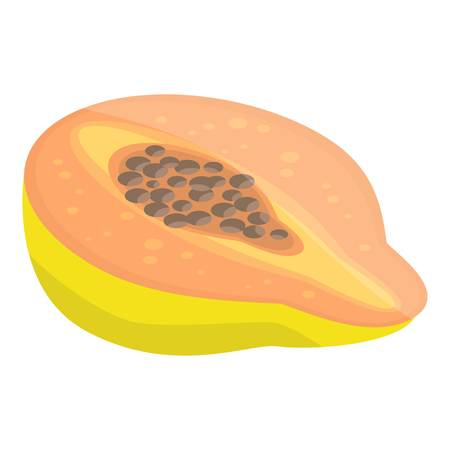 Cutted papaya icon. Isometric of cutted papaya vector icon for web design isolated on white background