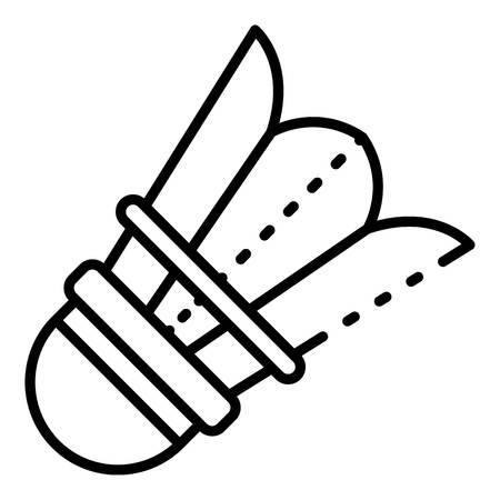 Plastic shuttlecock icon. Outline plastic shuttlecock vector icon for web design isolated on white background