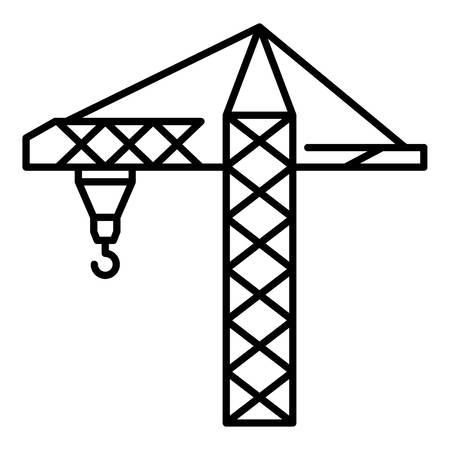 Construction crane icon, outline style