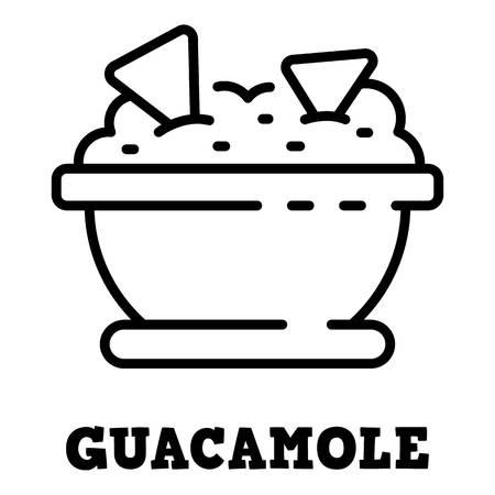 Guacamole icon, outline style