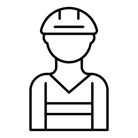 Masonry worker icon. Outline masonry worker vector icon for web design isolated on white background Ilustrace
