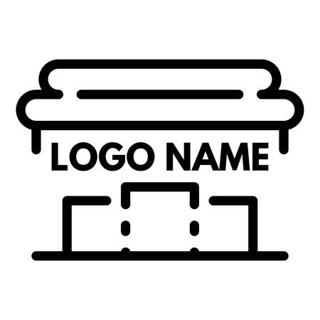 Rome pillar logo, outline style