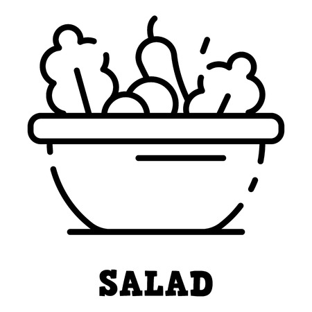 Salad icon. Outline salad vector icon for web design isolated on white background