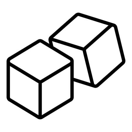 Double dice icon, outline style