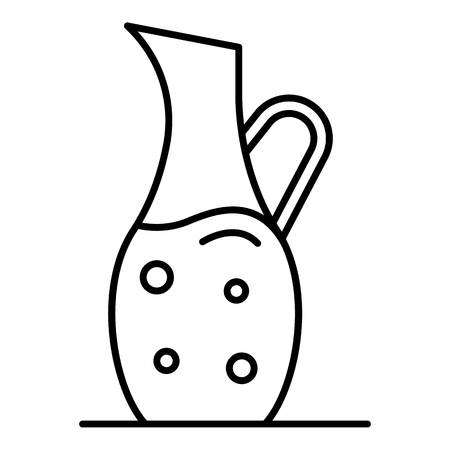 Fish oil jug icon, outline style