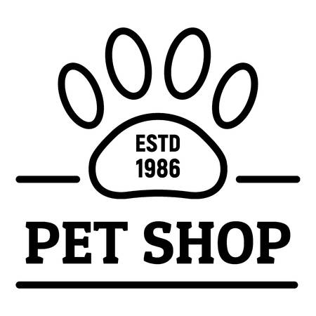City pet shop logo, outline style
