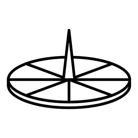 Ancient sundial icon, outline style Vecteurs