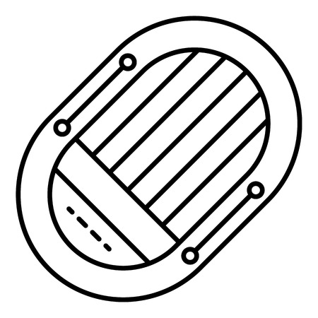 Rescue boat icon, outline style