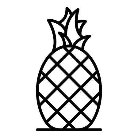 Tasty pineapple icon, outline style Imagens - 120206632