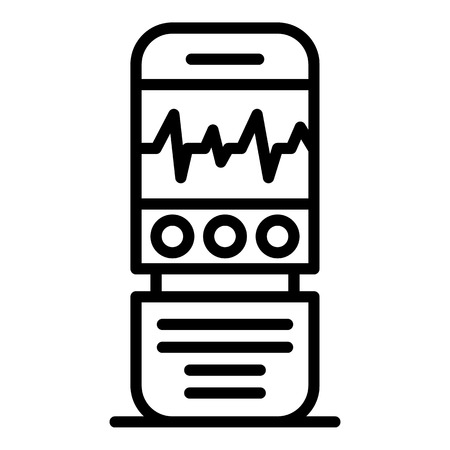 Digital dictaphone icon, outline style