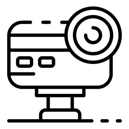 Action camera icon, outline style