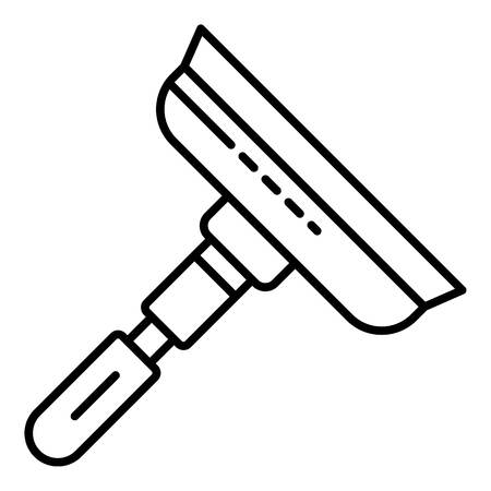 Window glass tool icon, outline style