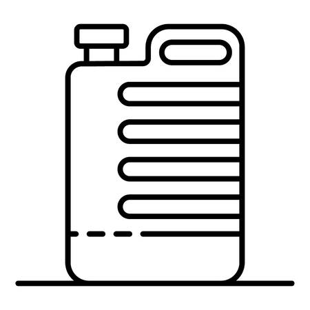 Cleaner canister icon, outline style