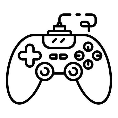 Joystick icon, outline style
