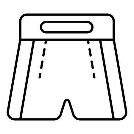 Boxing shorts icon, outline style Stock Illustratie