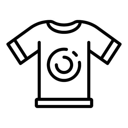 Cycling tshirt icon, outline style