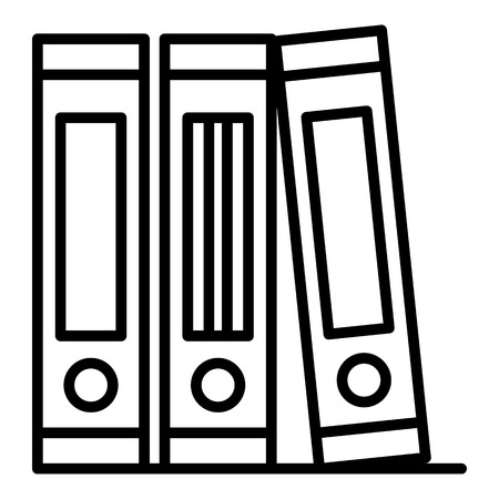 Folders stack icon, outline style