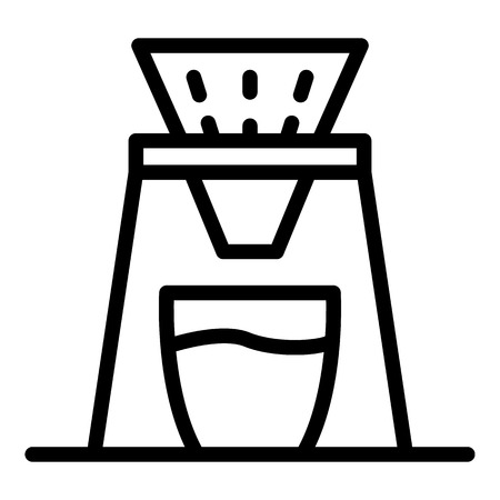 Coffee filter icon, outline style