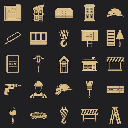 Outfit icons set, simple style
