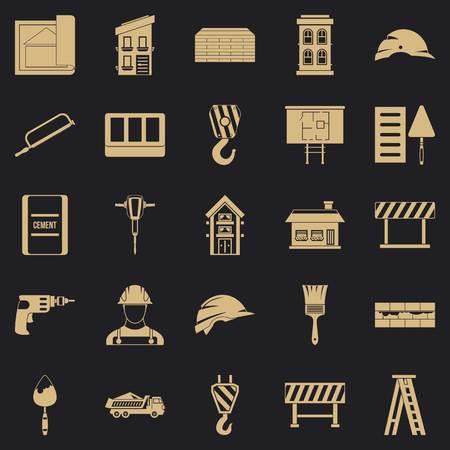 Outfit icons set, simple style Vektoros illusztráció
