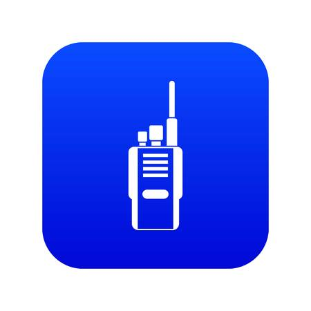 Radio icon digital blue for any design isolated on white vector illustration