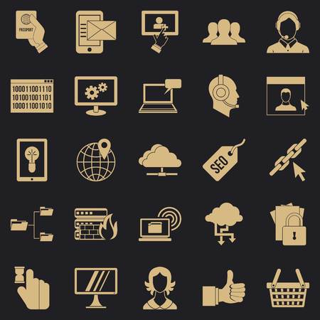 Telephone base icons set. Simple set of 25 telephone base vector icons for web for any design
