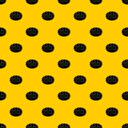Burger pattern seamless vector repeat geometric yellow for any design