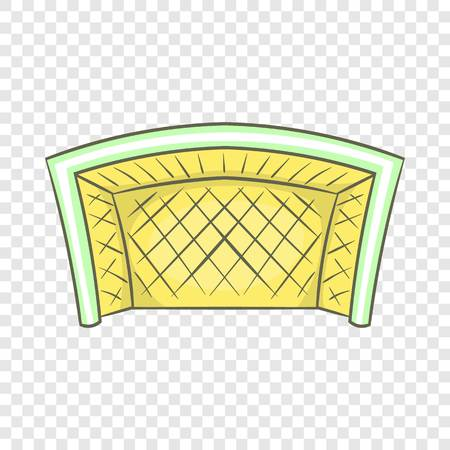 Football goal icon in cartoon style isolated on background for any web design 向量圖像